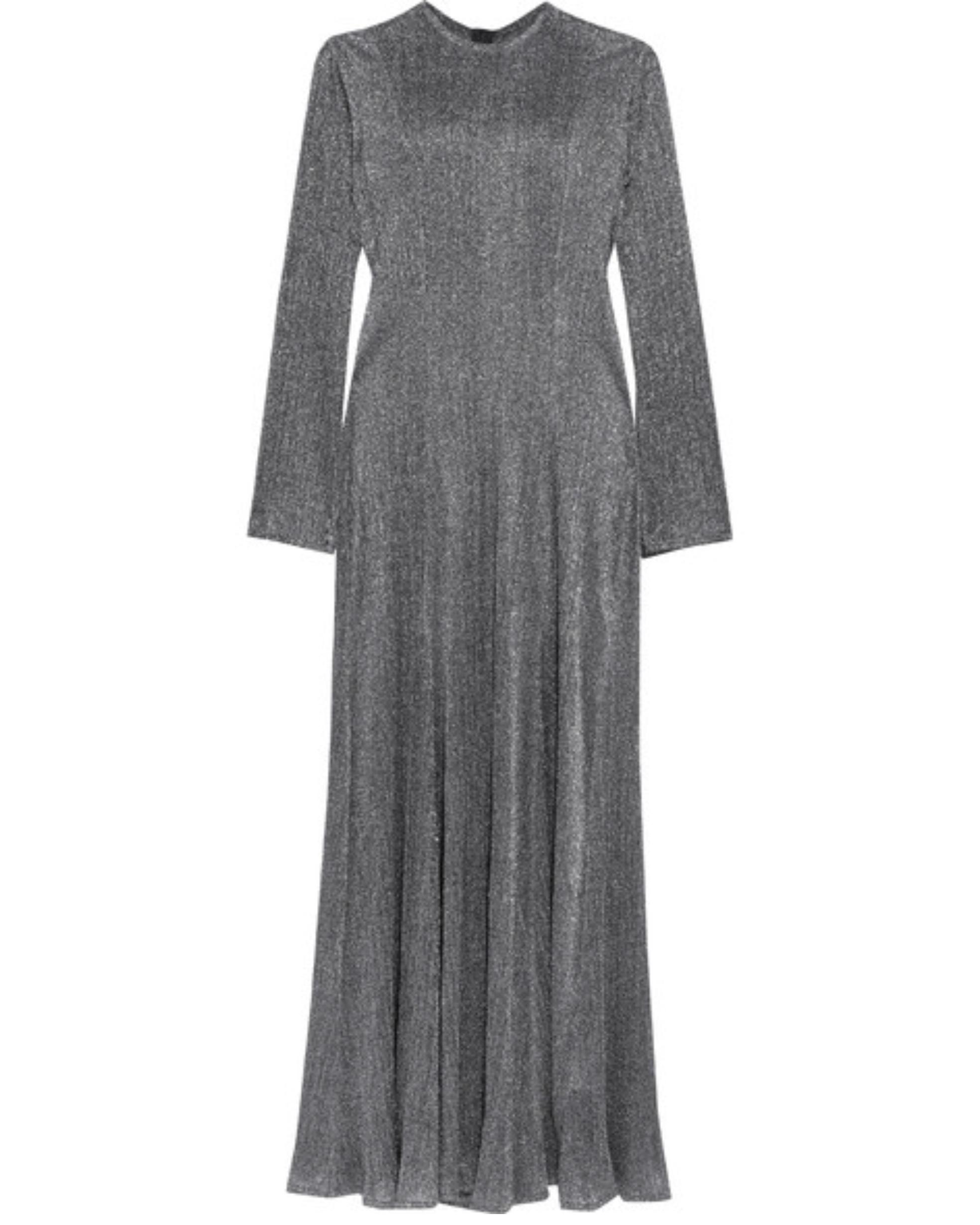 long-sleeve grey dress