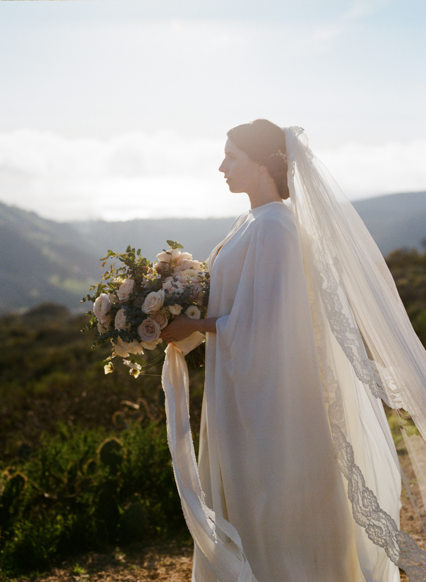 Wedding Dress with Cape