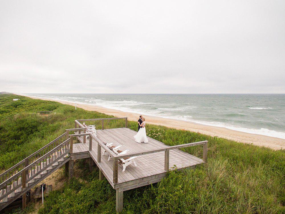 beach bride groom deck