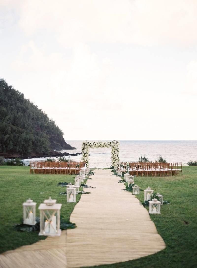 beach ceremony site walkway