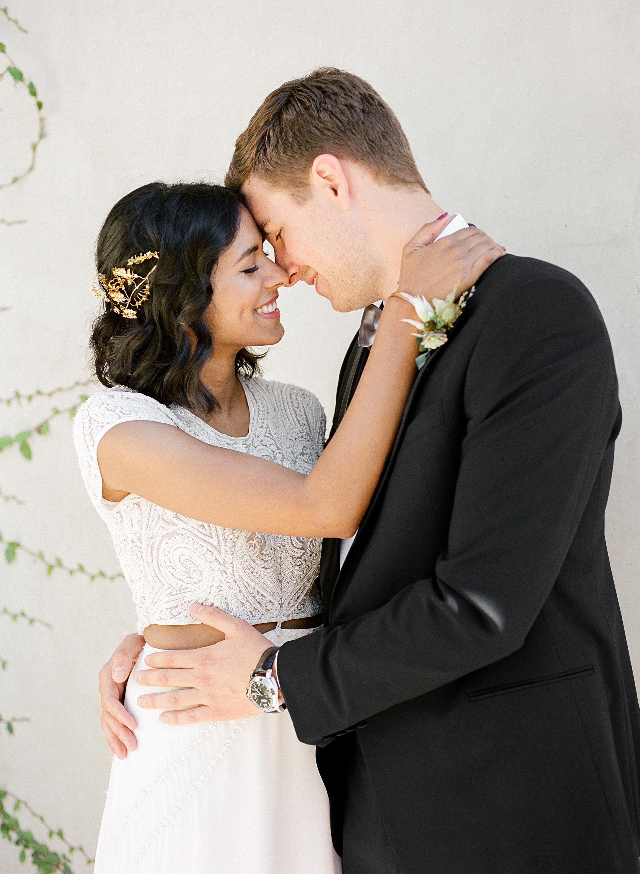 natasha nick wedding california couple embrace