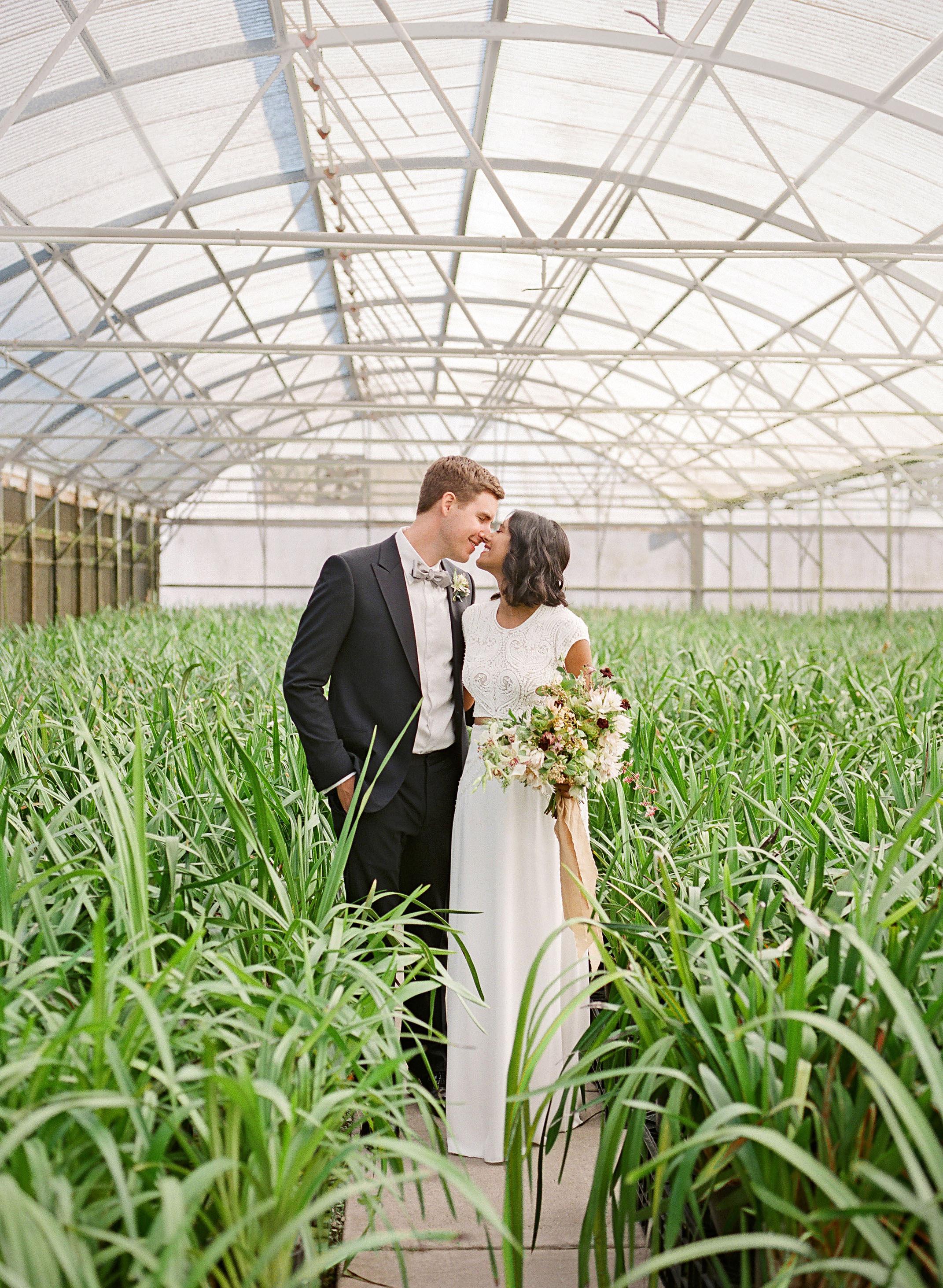 natasha nick wedding california couple greenhouse