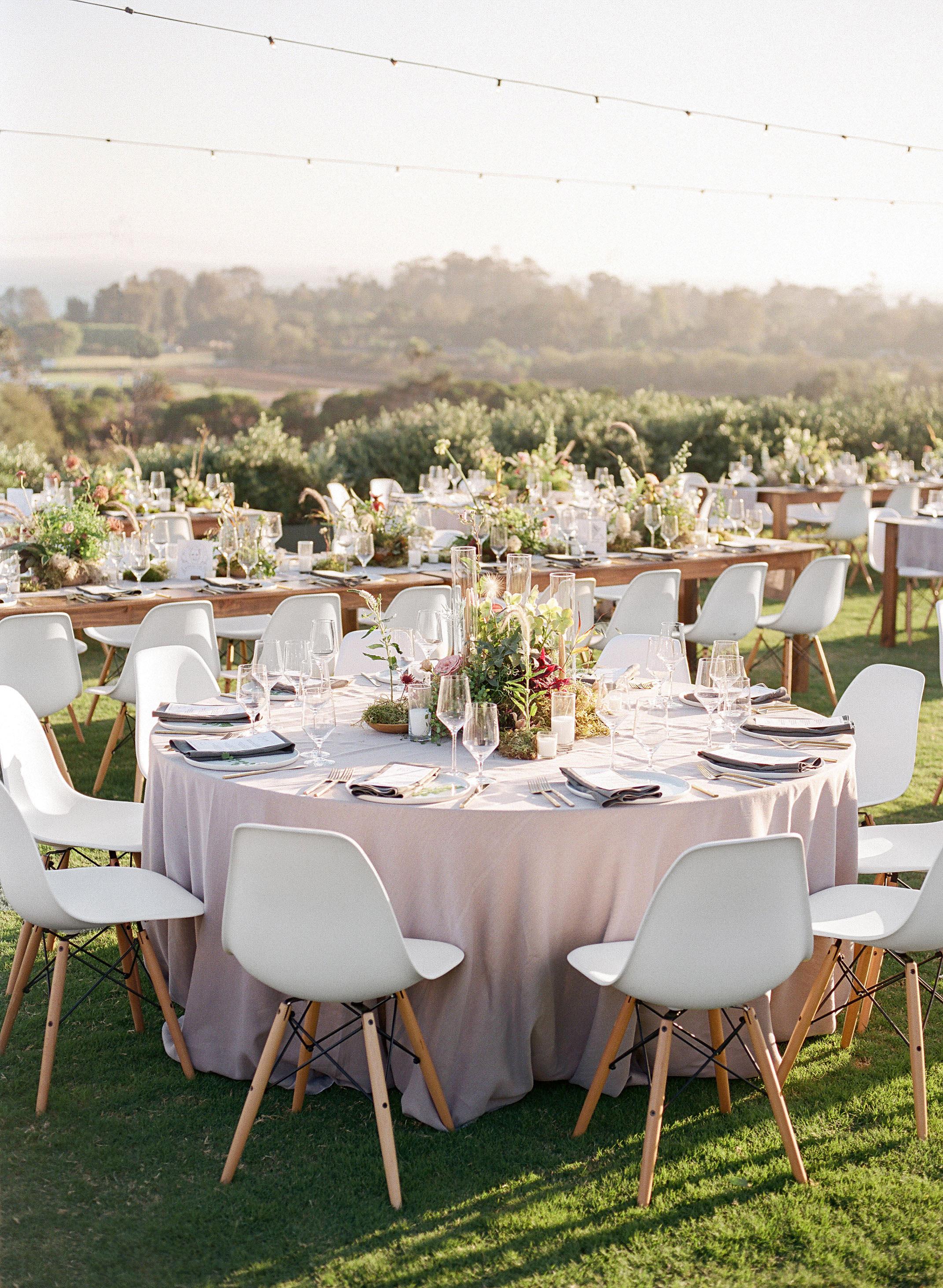 natasha nick wedding california tables