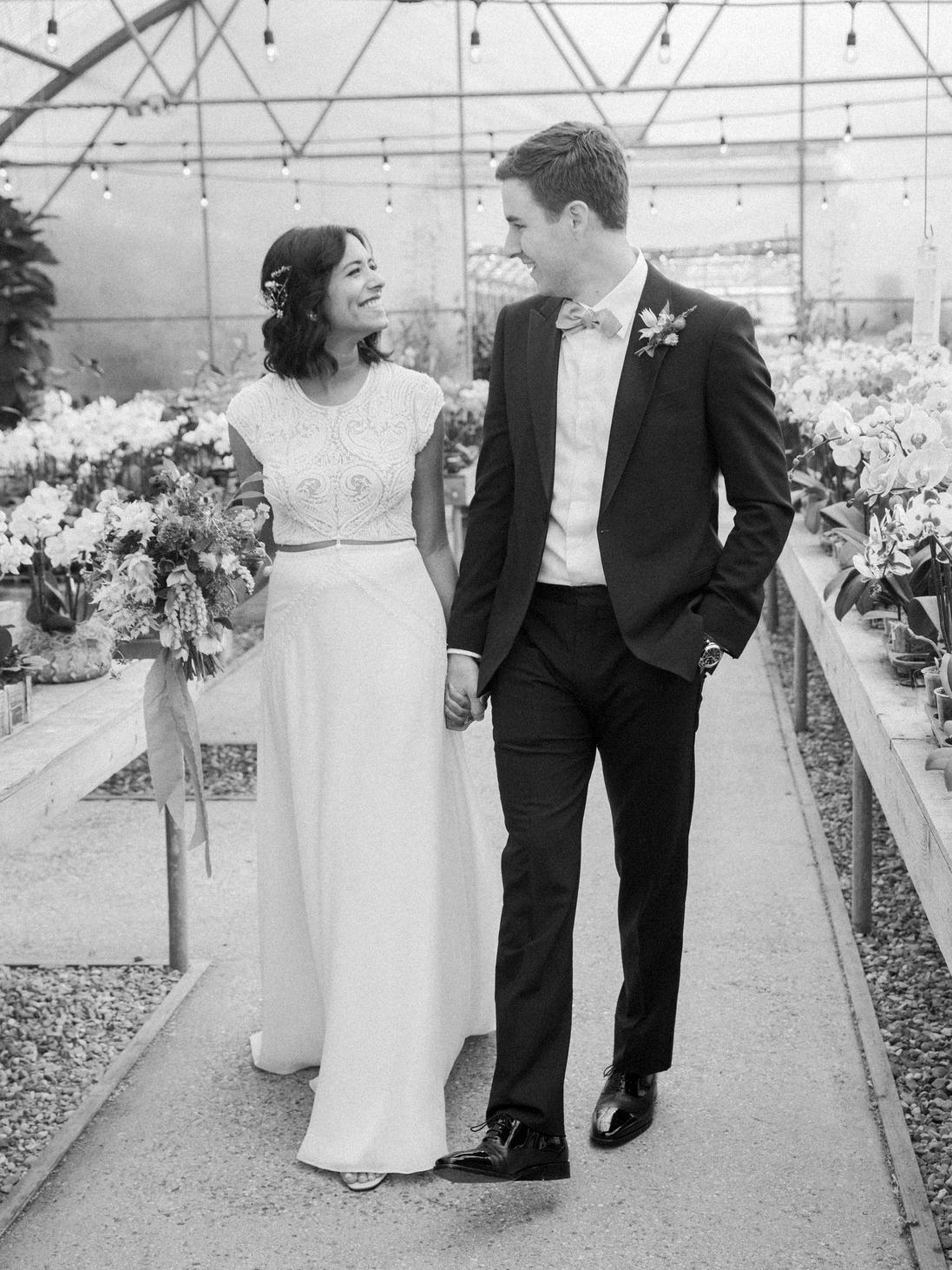 natasha nick wedding california couple holding hands