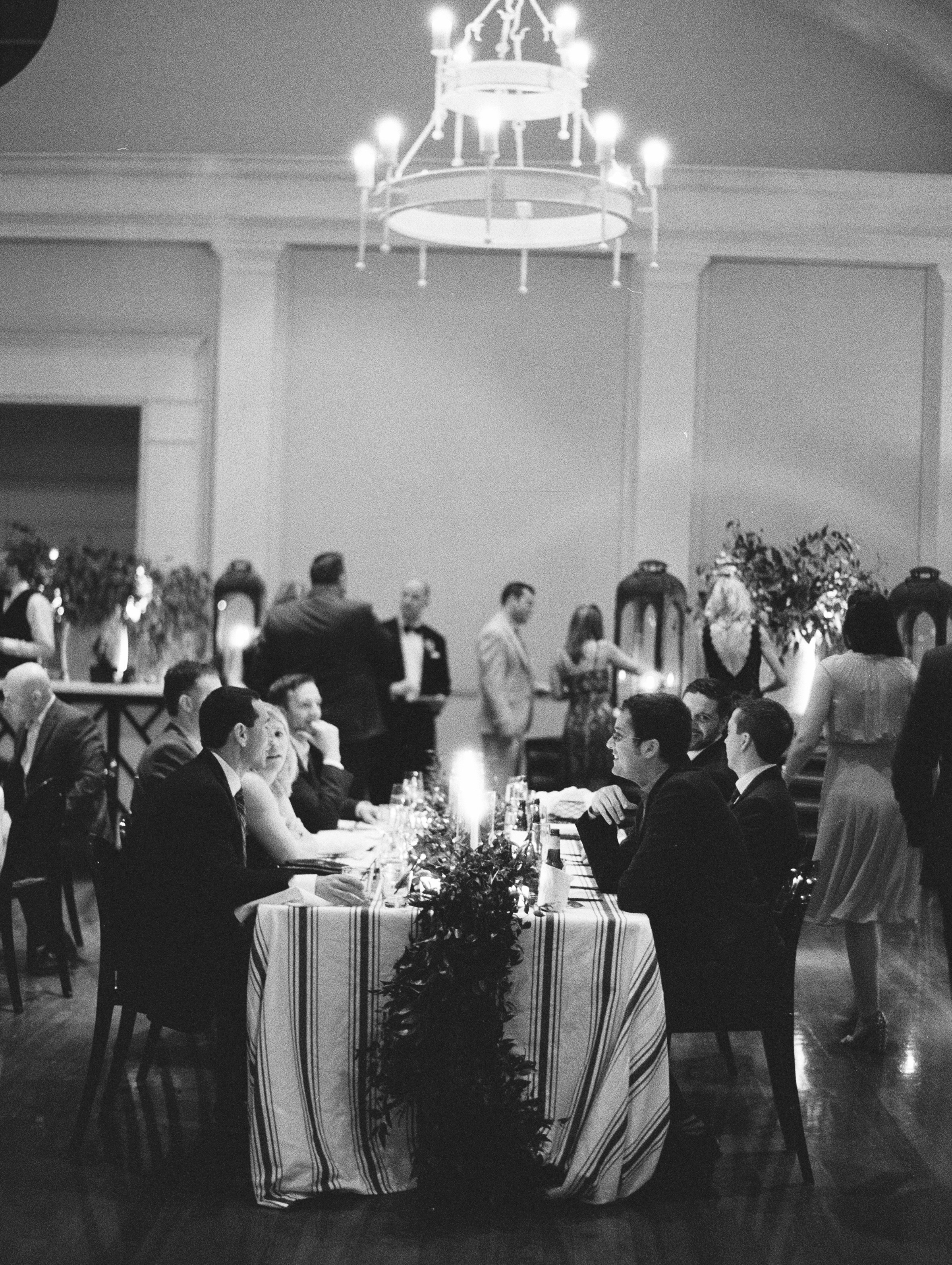 wedding reception seated guests