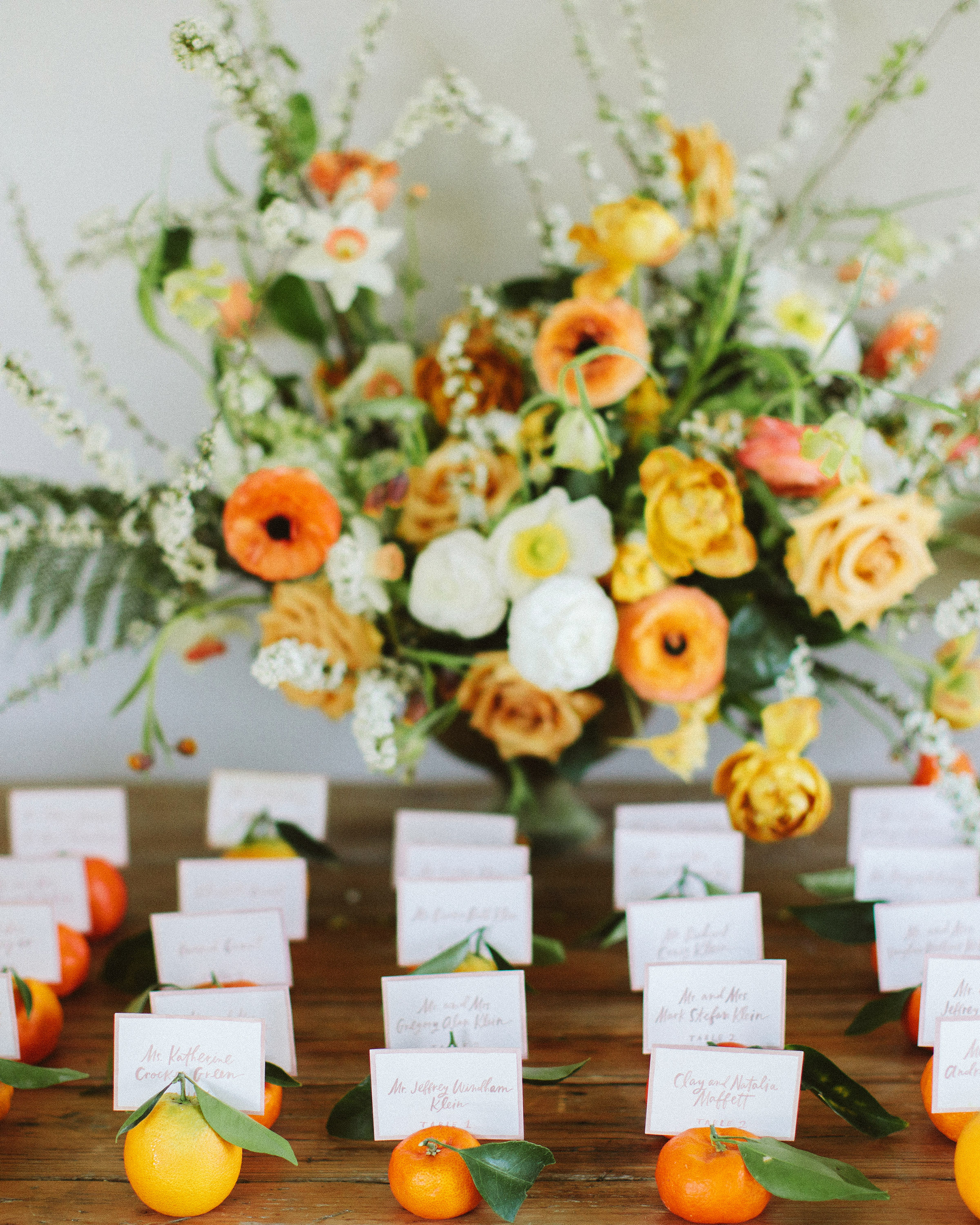 Citrus Escort Cards