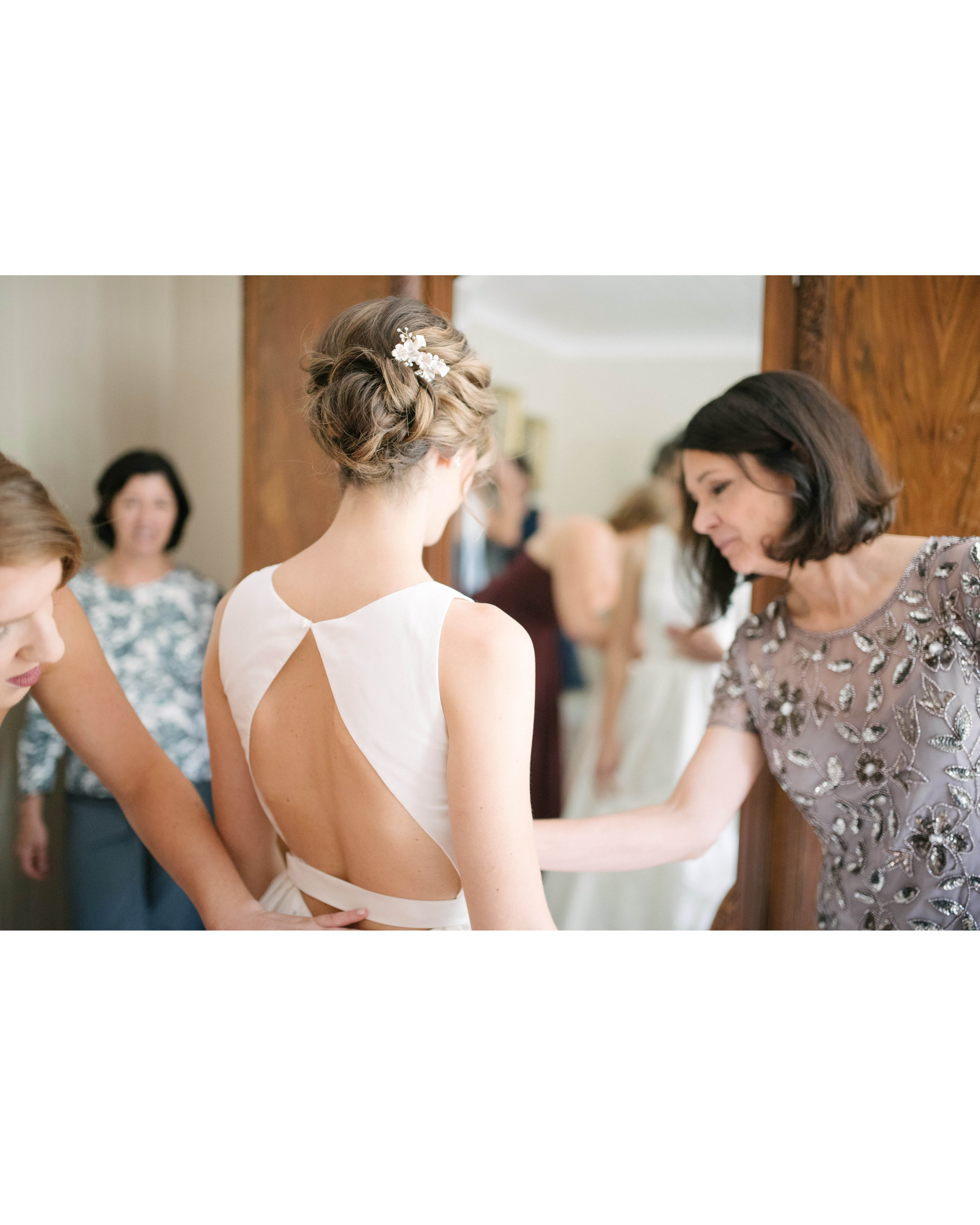 bridal gown fitting