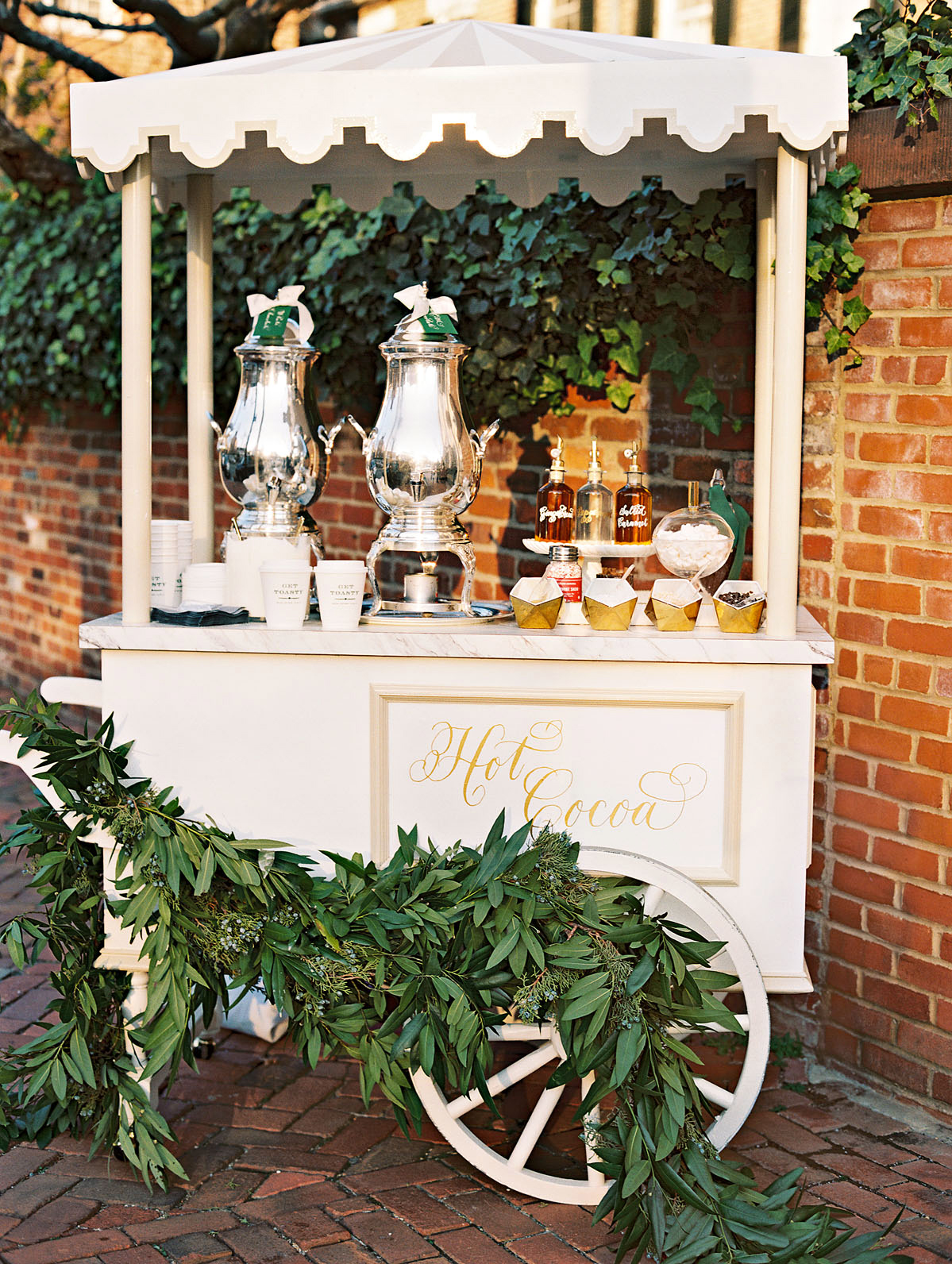 celina rob wedding virginia hot chocolate cart