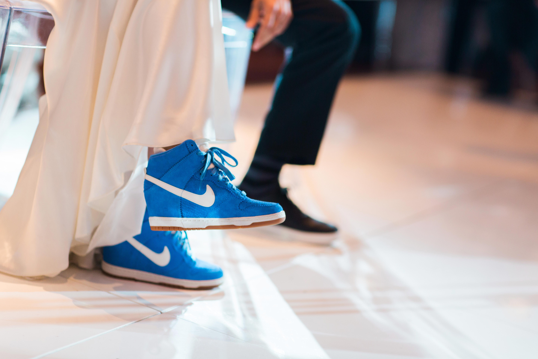 blue high top sneakers