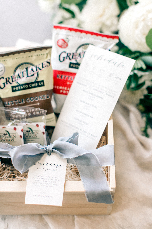 maggie zach wedding welcome box