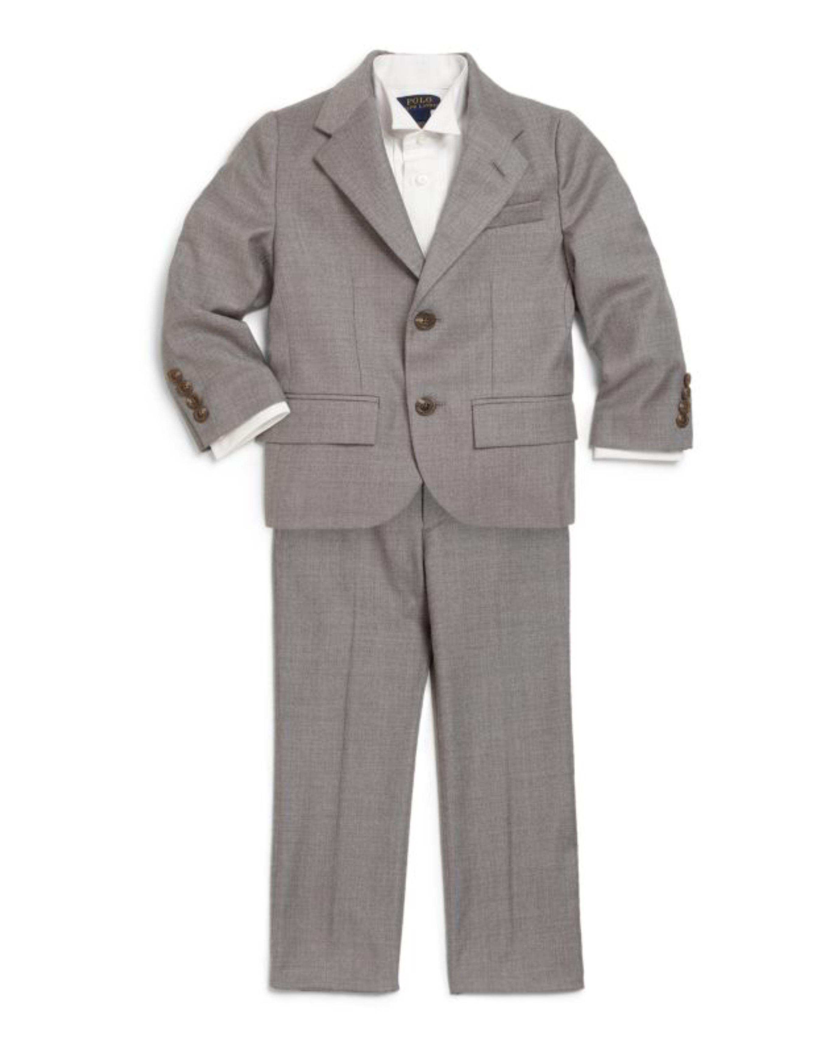 ralph lauren grey ring bearer suit