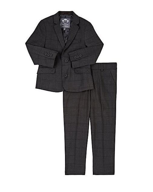 black ring bearer suit