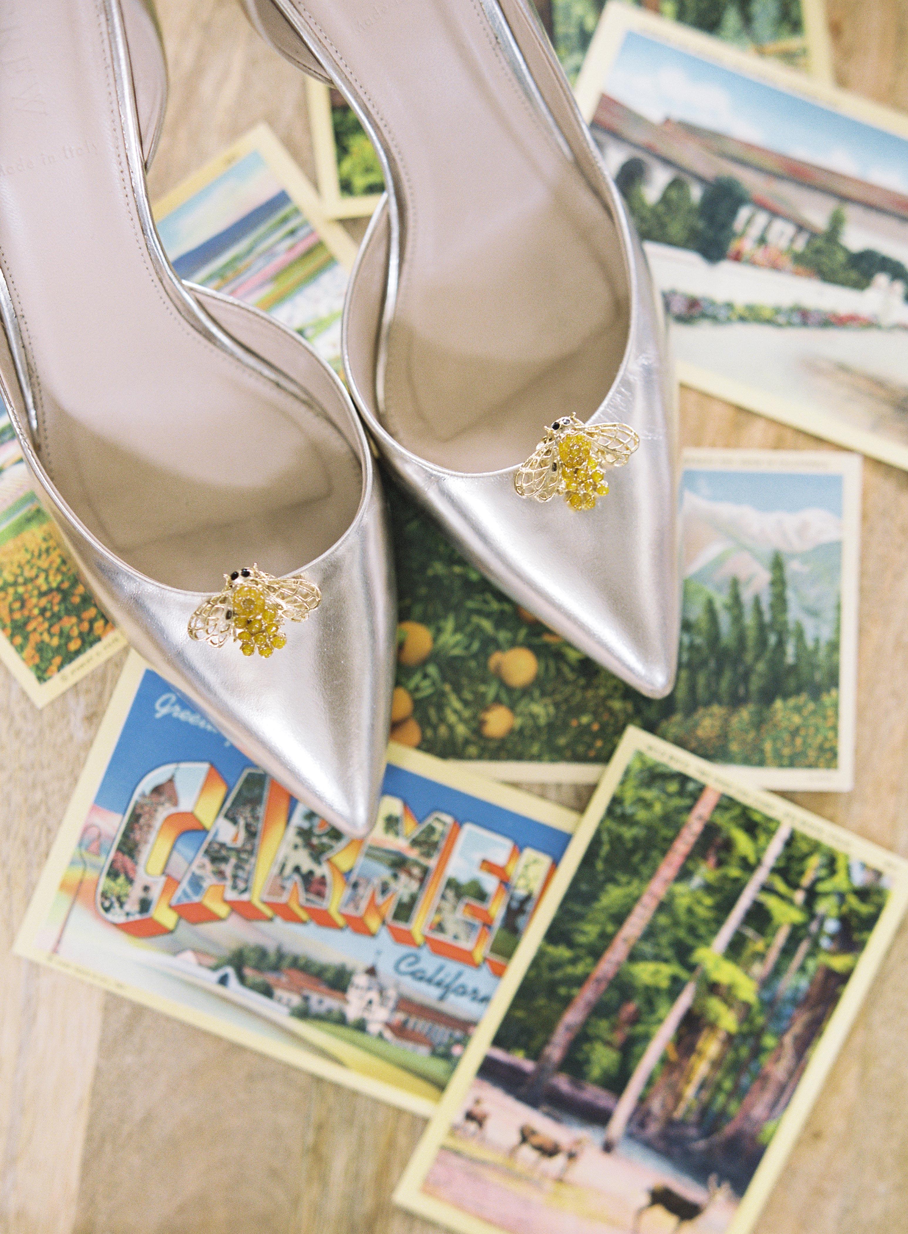 wedding shoes postcards