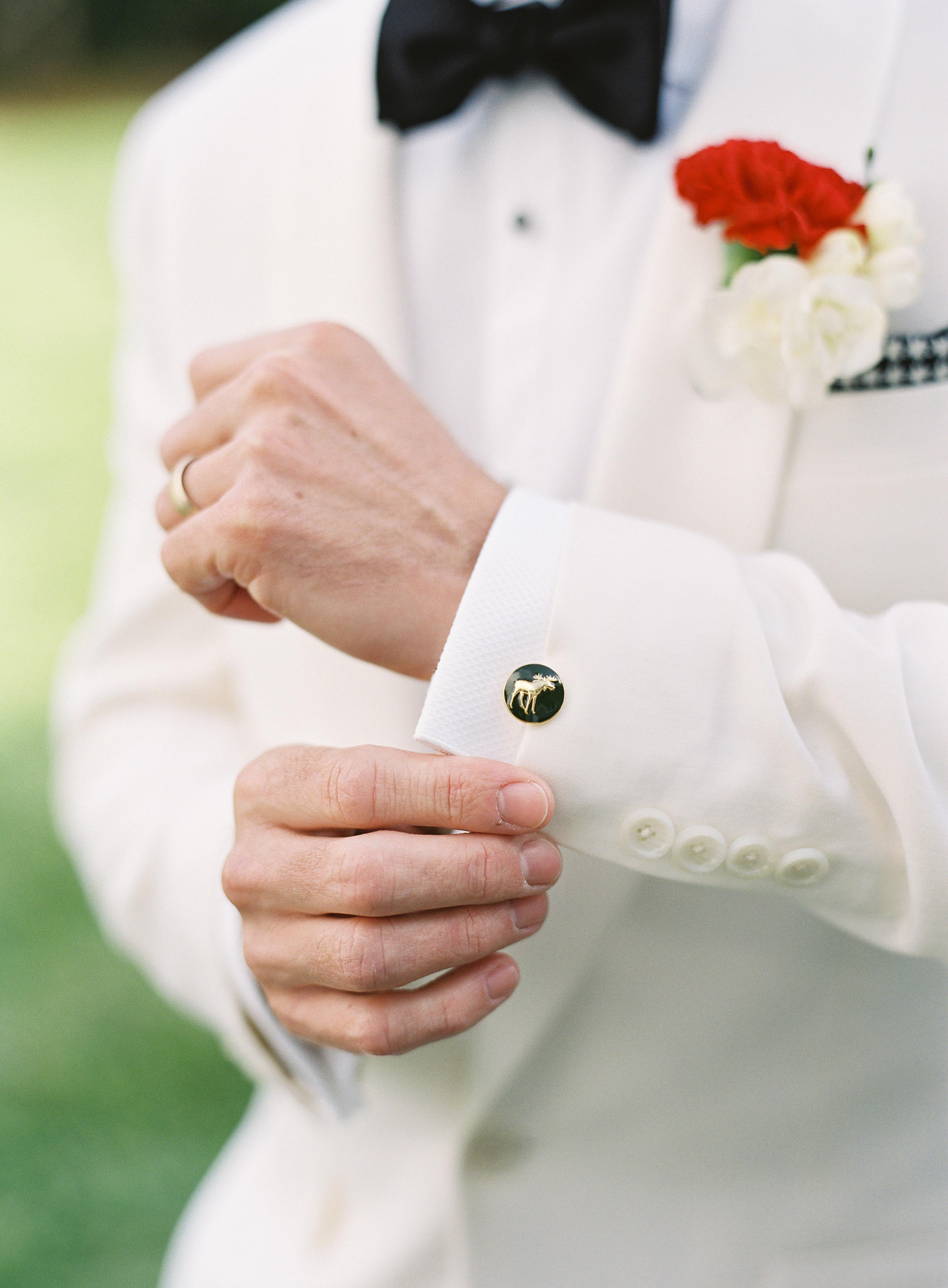 wedding moose cufflink