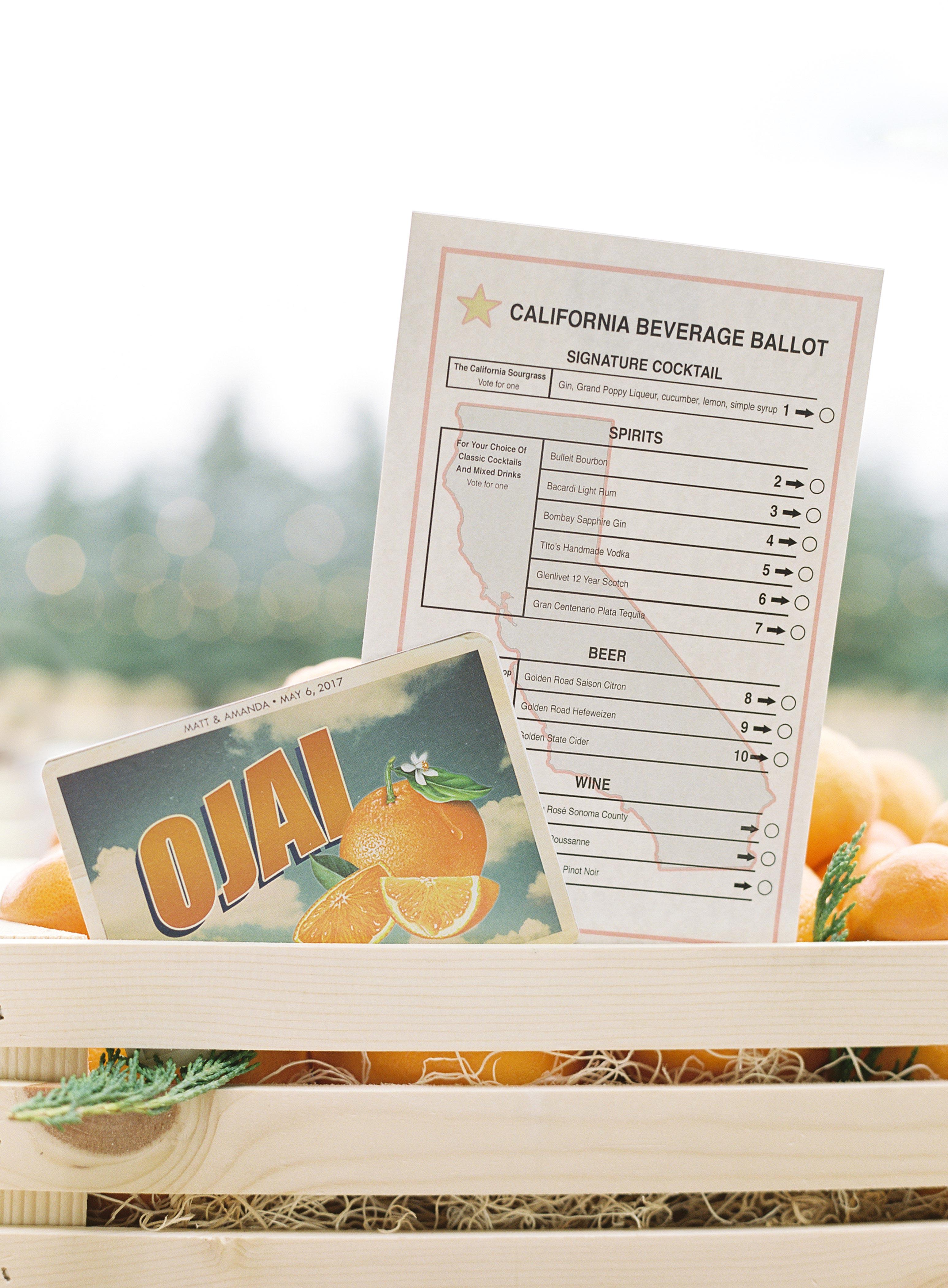 wedding ballot