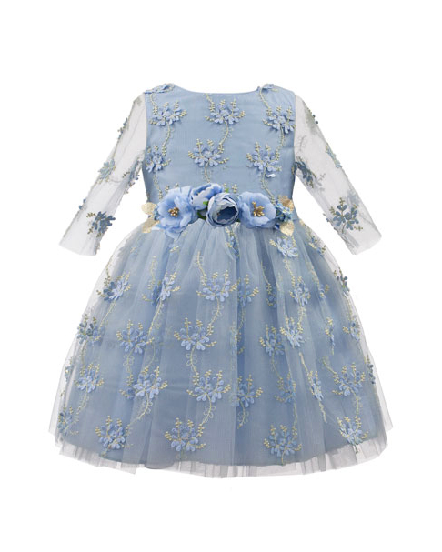 long sleeve flower girl dresses david charles embroidered