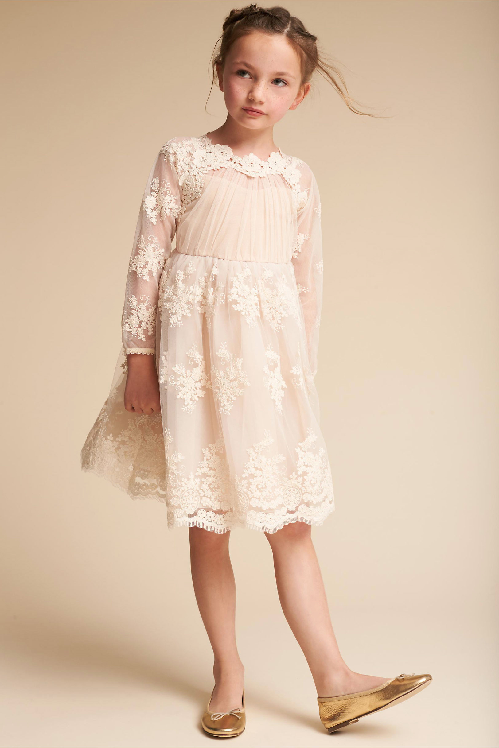 long sleeve flower girl dresses bhldn