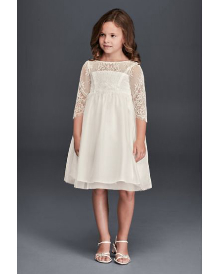 long sleeve flower girl dresses davids bridal