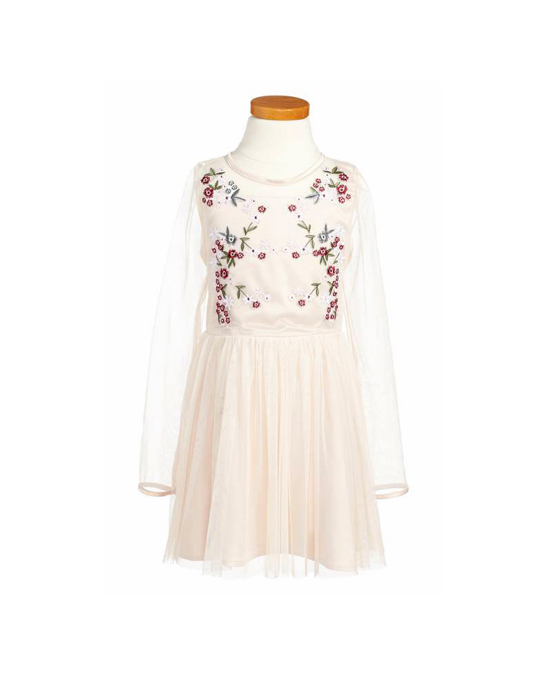 long sleeve flower girl dresses bardot junior