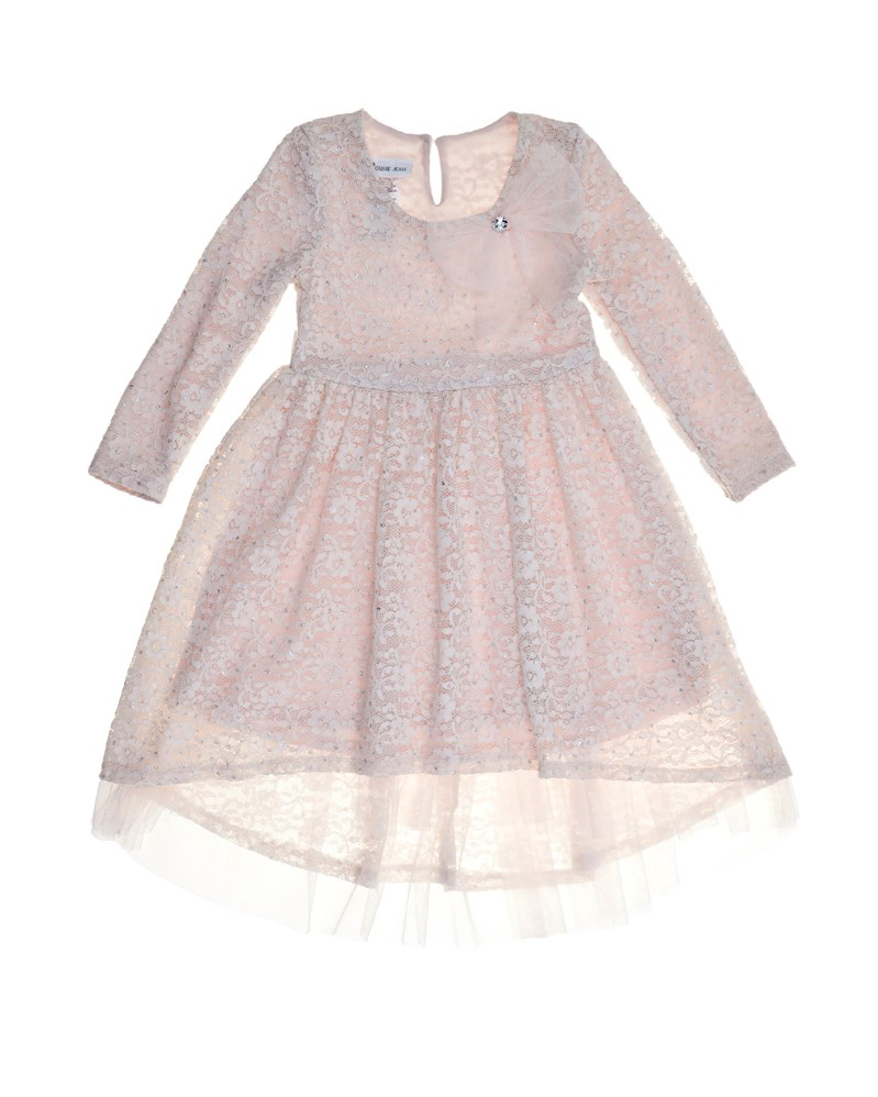 long sleeve flower girl dresses bonnie jean lace