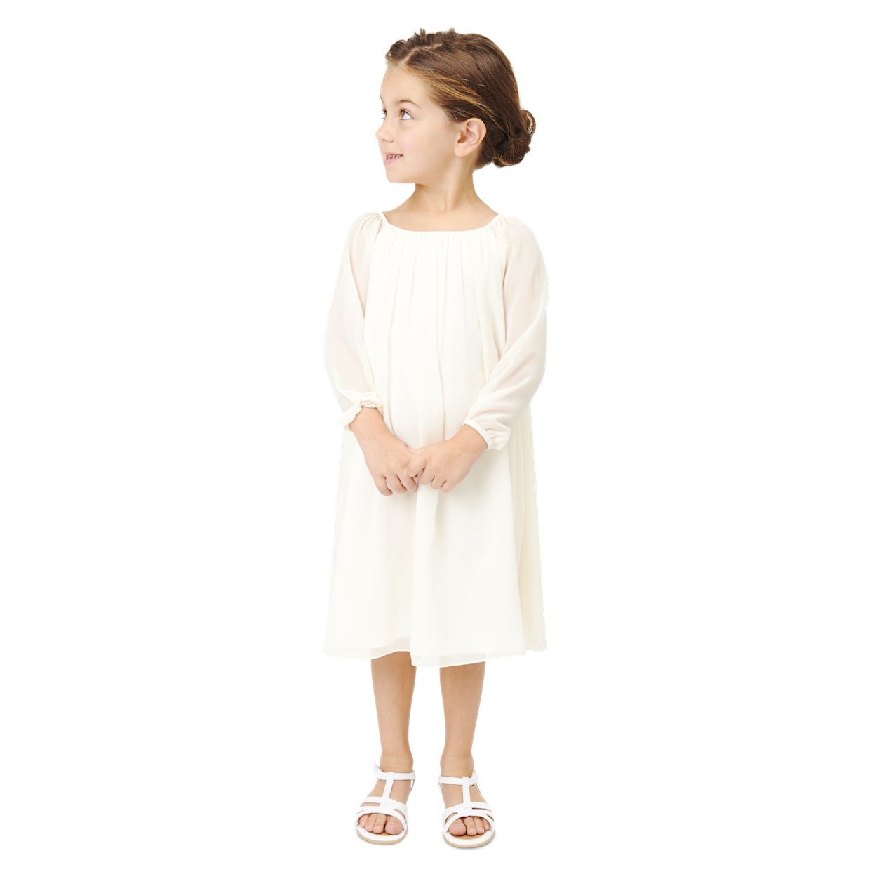 long sleeve flower girl dresses joanna august