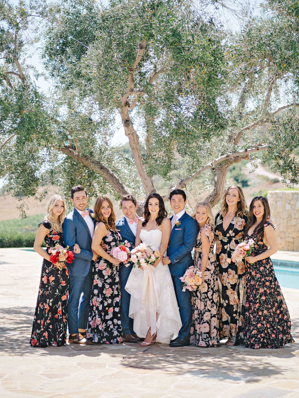 perri phillip wedding california bridal party