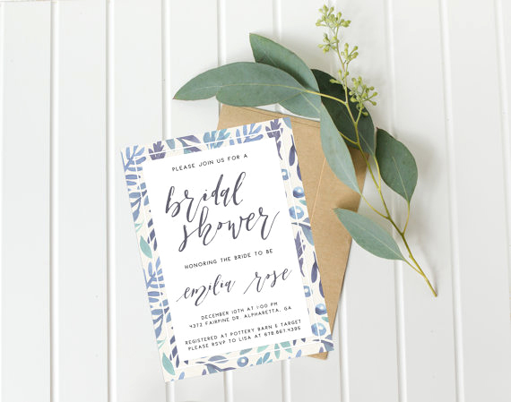 blue detail invitations