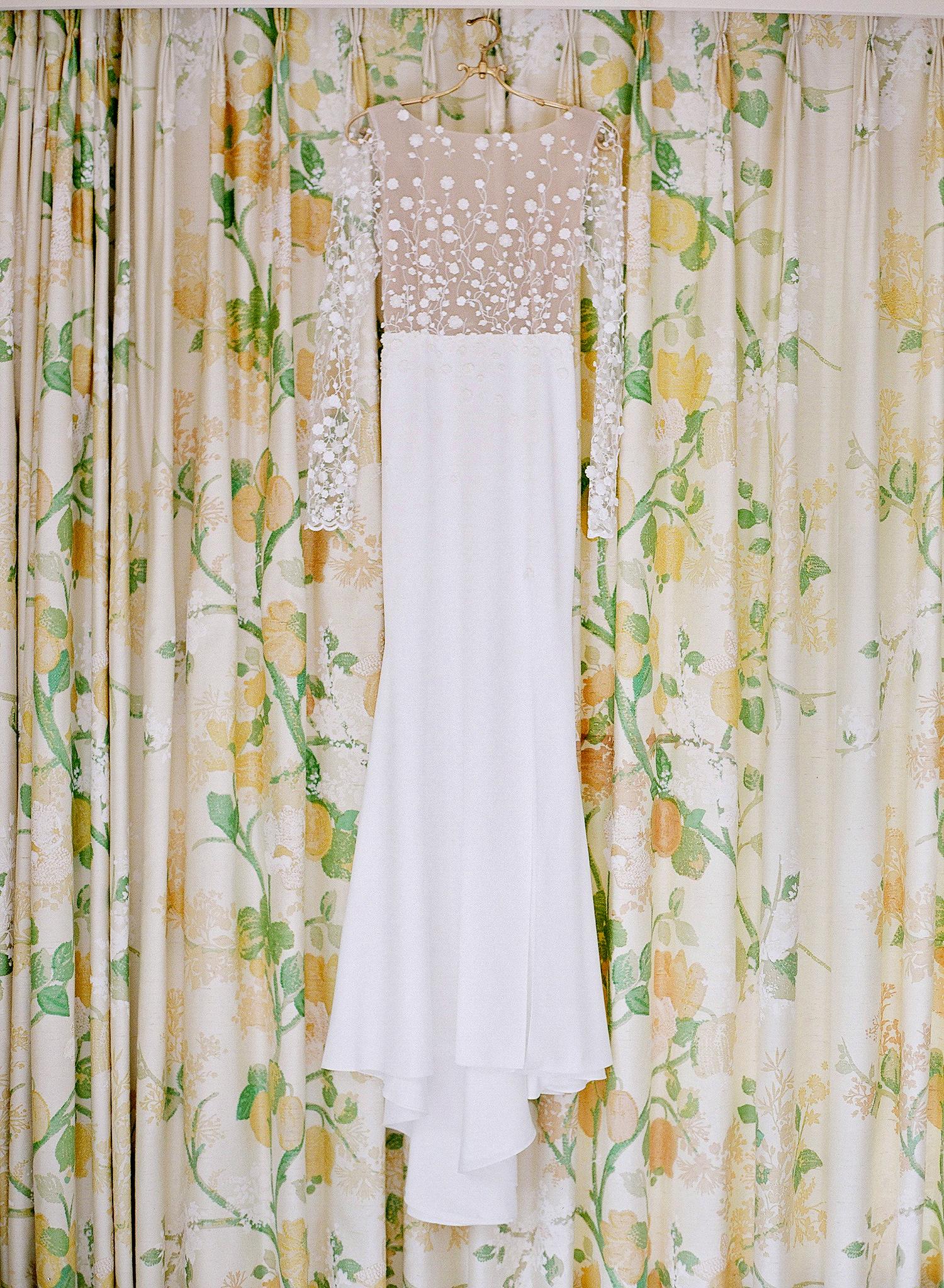 marianne patrick wedding dress hanging