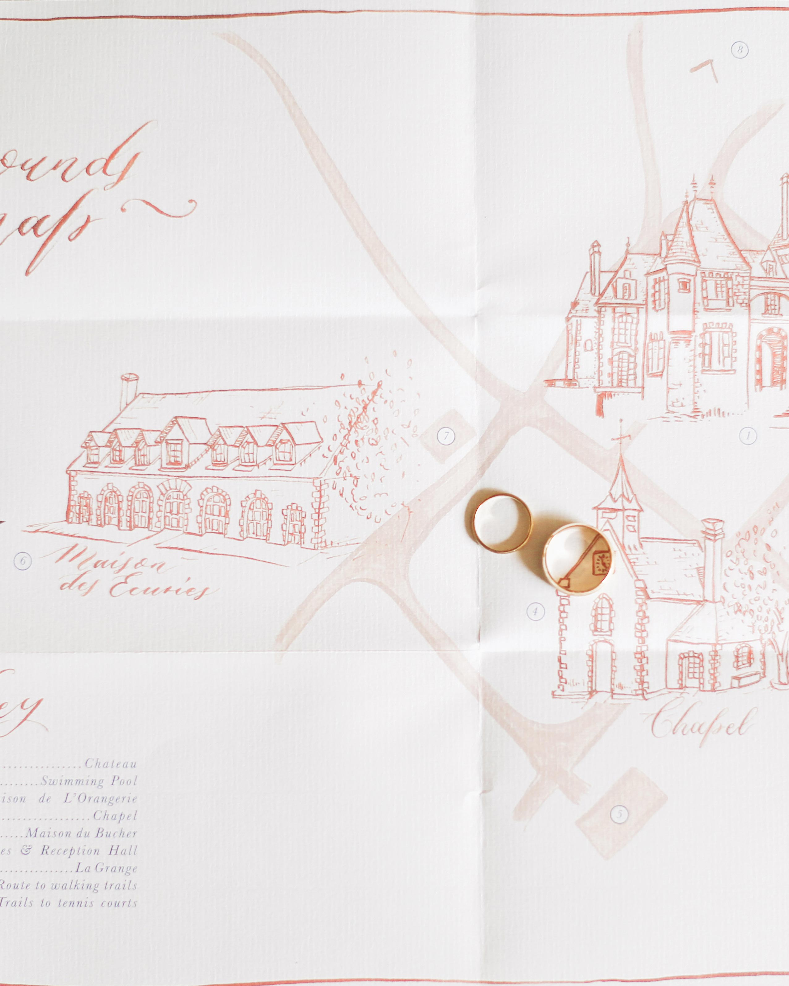 wedding map rings