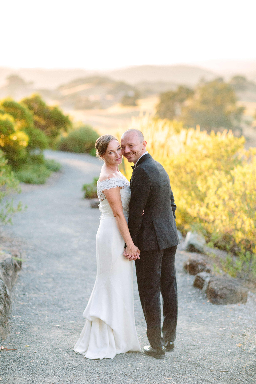 wedding couple on trail