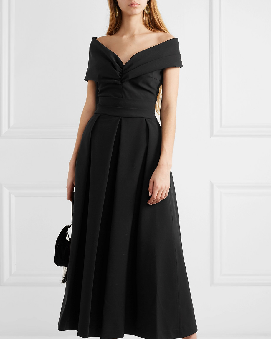 "Preen by Thornton Bregazzi ""Daniela"" Off-the-Shoulder Ruched Dress"