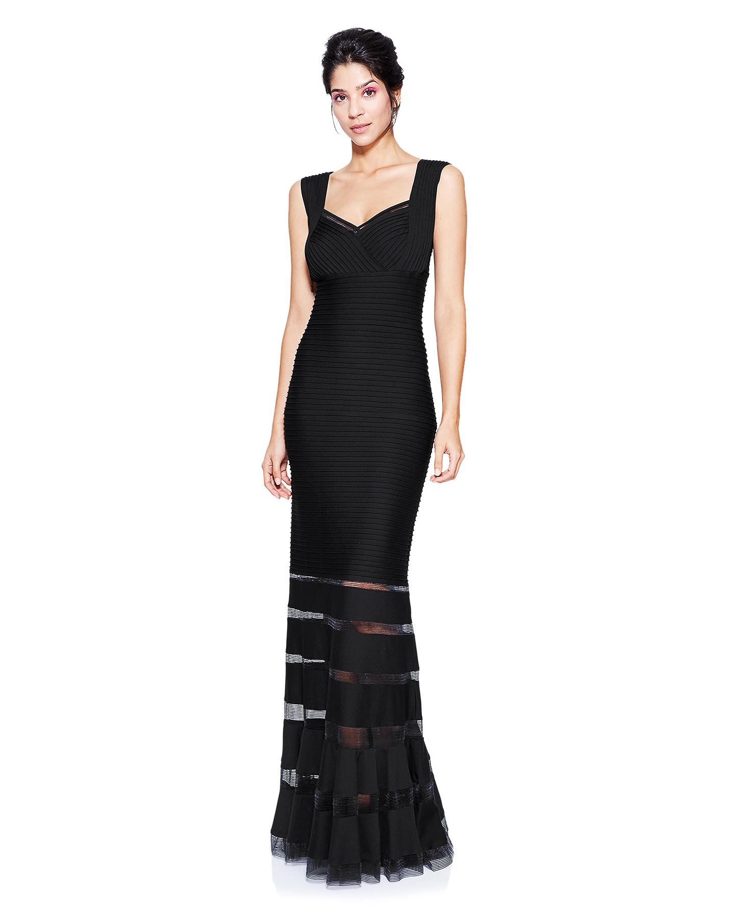 black long dress