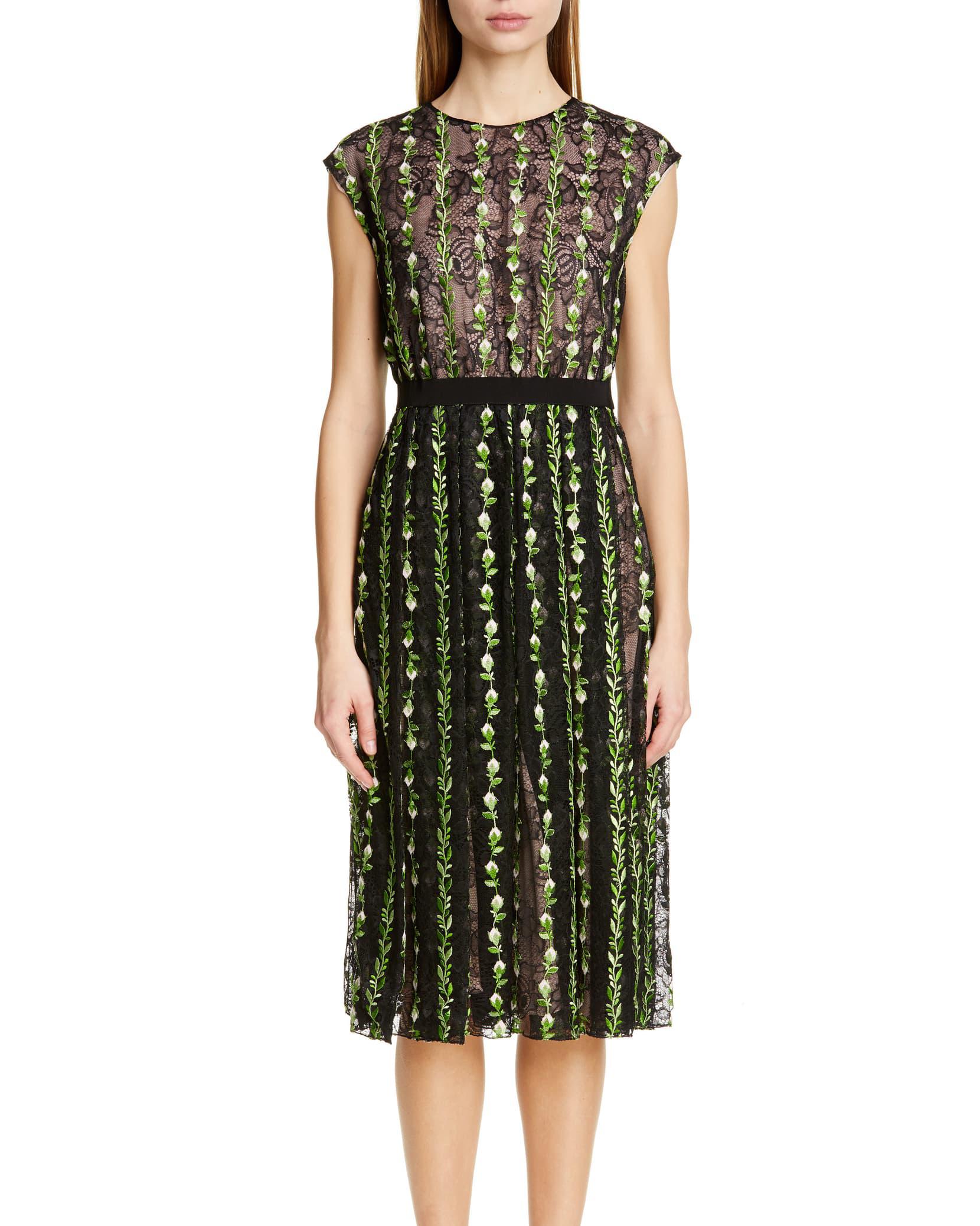 Giambattista Valli Floral Lace Cocktail Dress