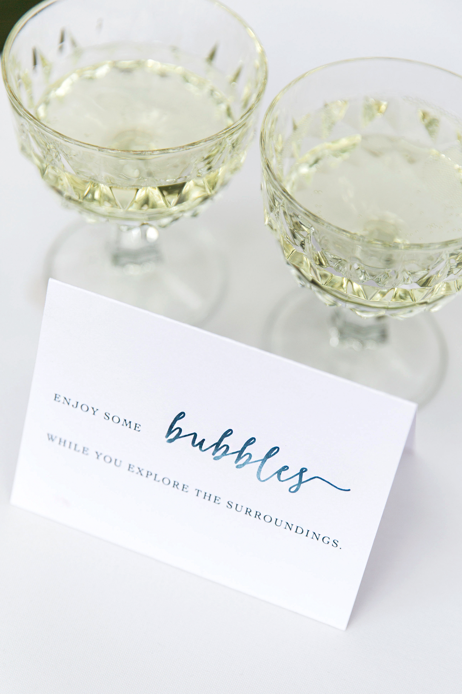 allison aimee wedding bubbly for guests
