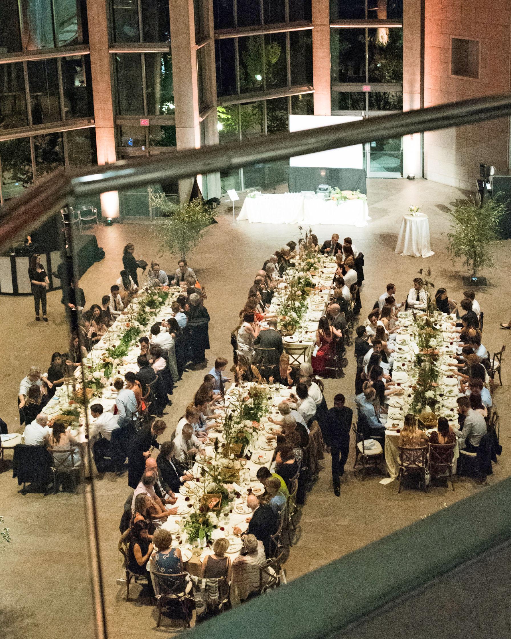 molly michael wedding reception dining