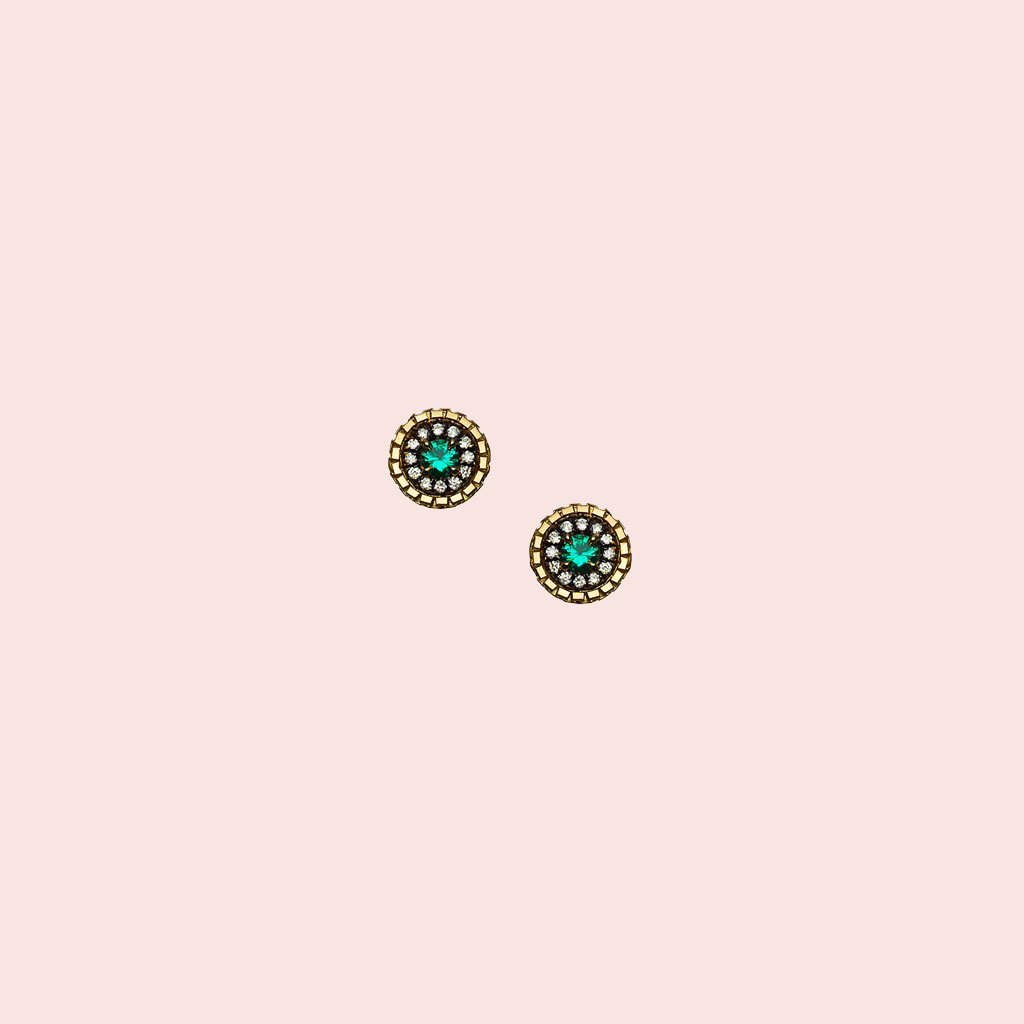 blue stone earrings