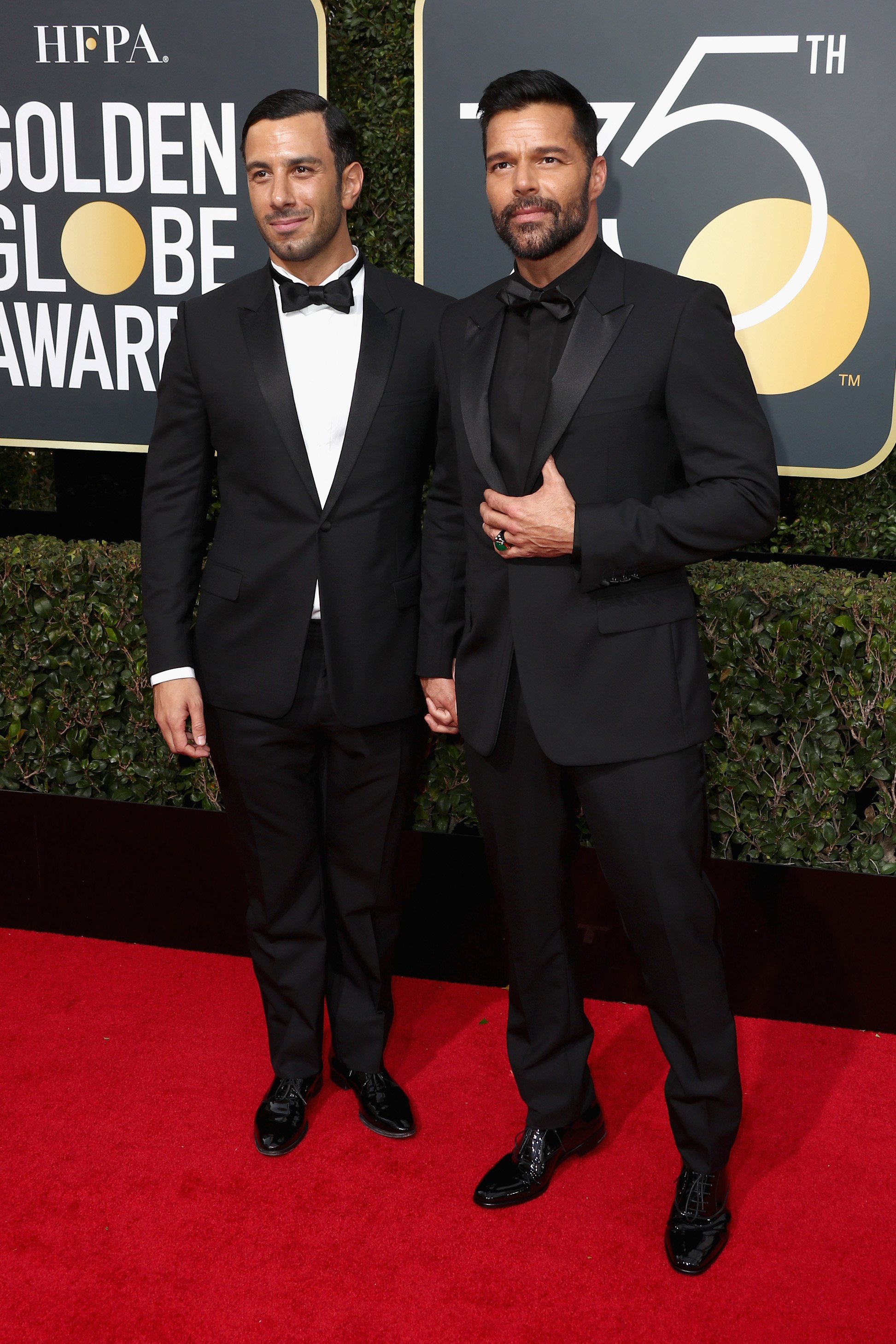 Ricky Martin and Jwan Yosef 2018 Golden Globes