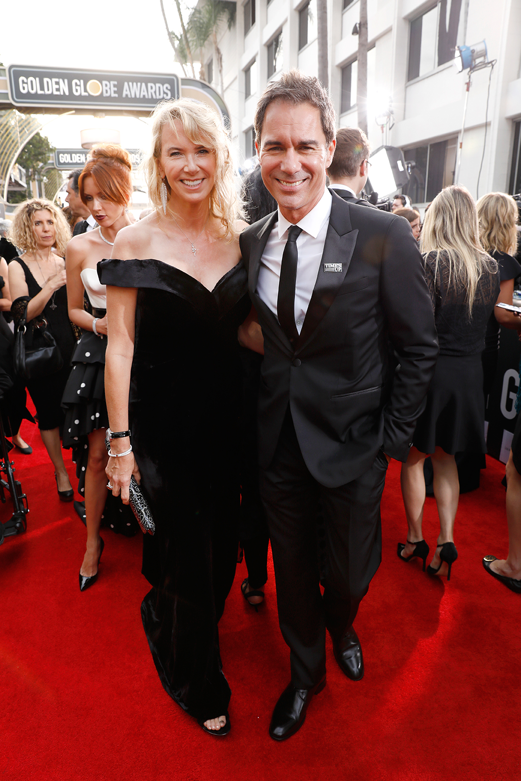 Eric McCormack and Janet Holden 2018 Golden Globes