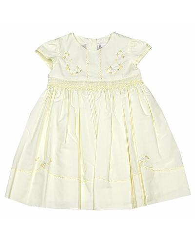 pale yellow flower girl dress