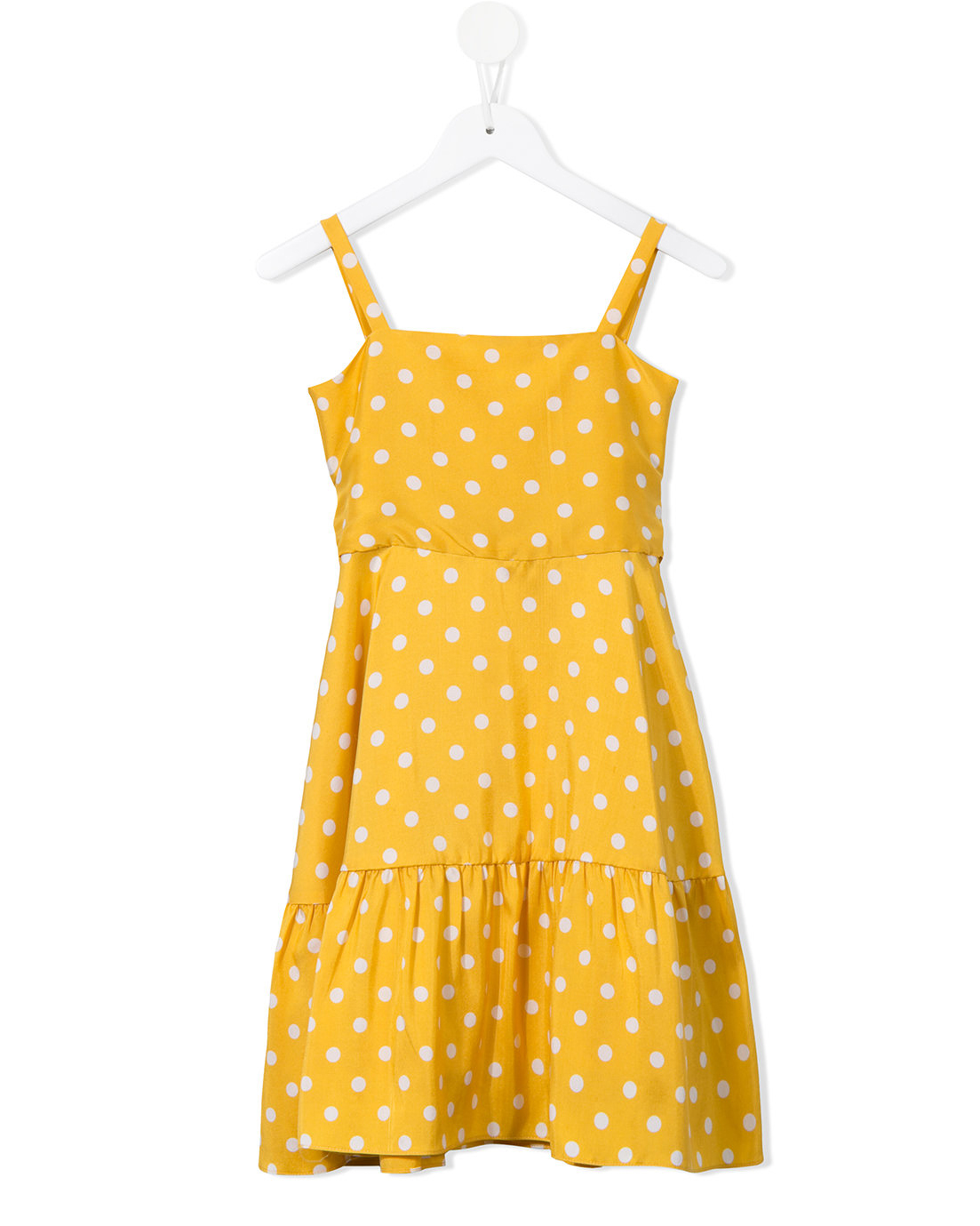 yellow polka-dot dress
