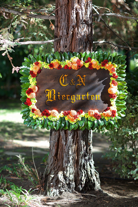 beer garden signage