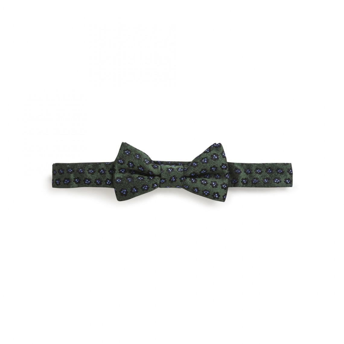 ring bearer dark green floral bow tie