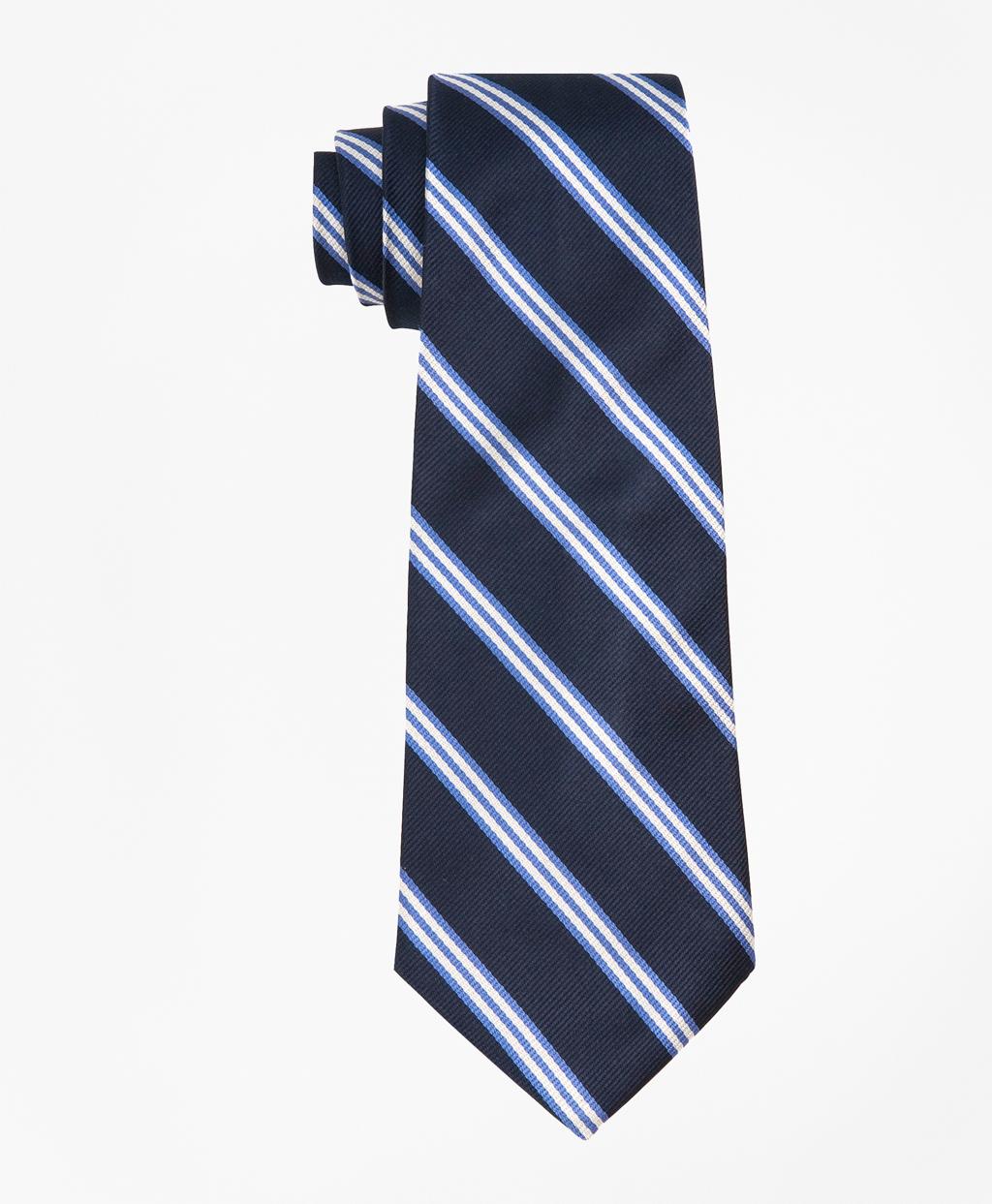 ring bearer blue white striped tie