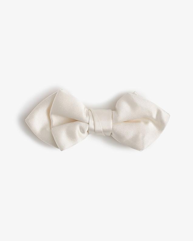 ring bearer italian satin bow tie