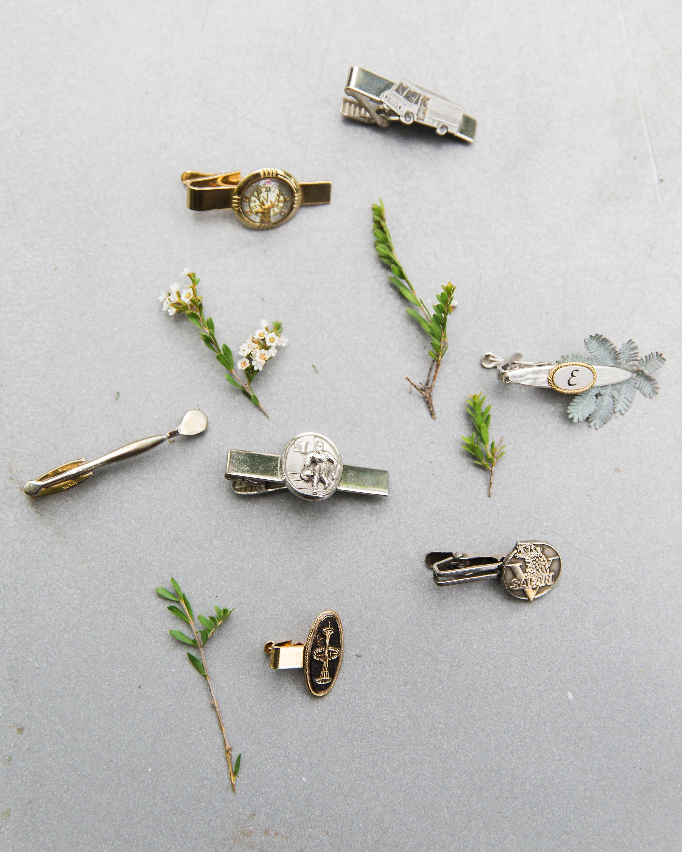 wedding tie clips