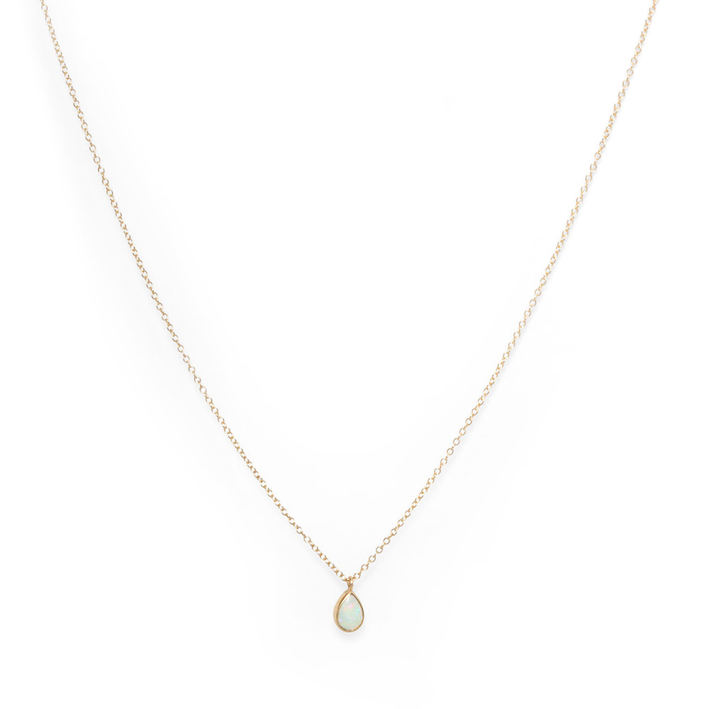 blue green stone necklace