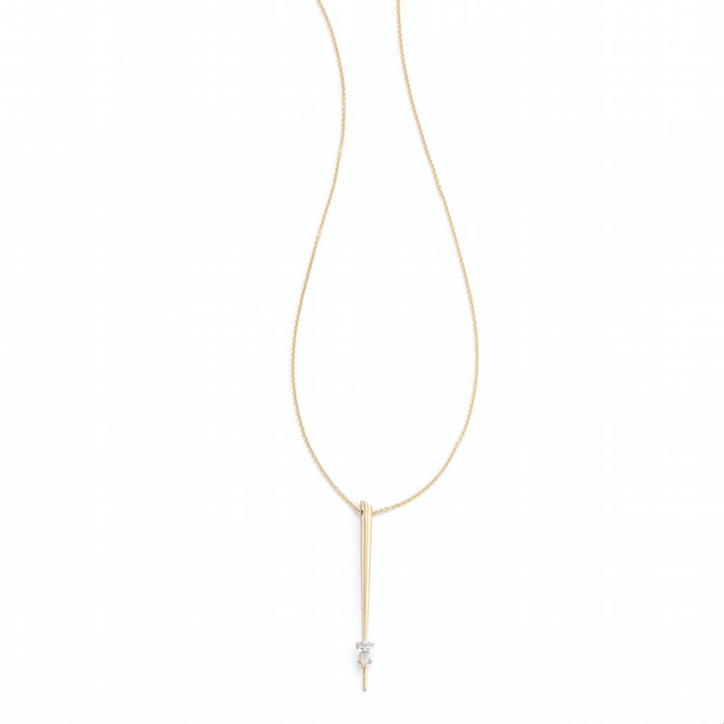 delicate gold necklace  pendant Jade Trau