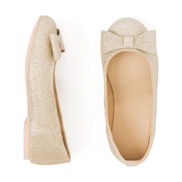 flower girl shoes shimmer glittery bow flats