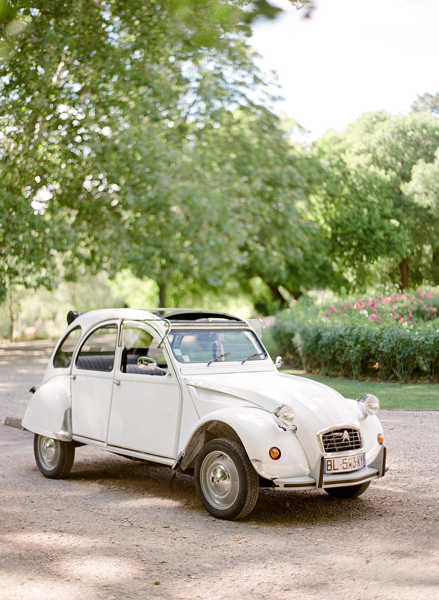 jannicke paal france wedding vintage car
