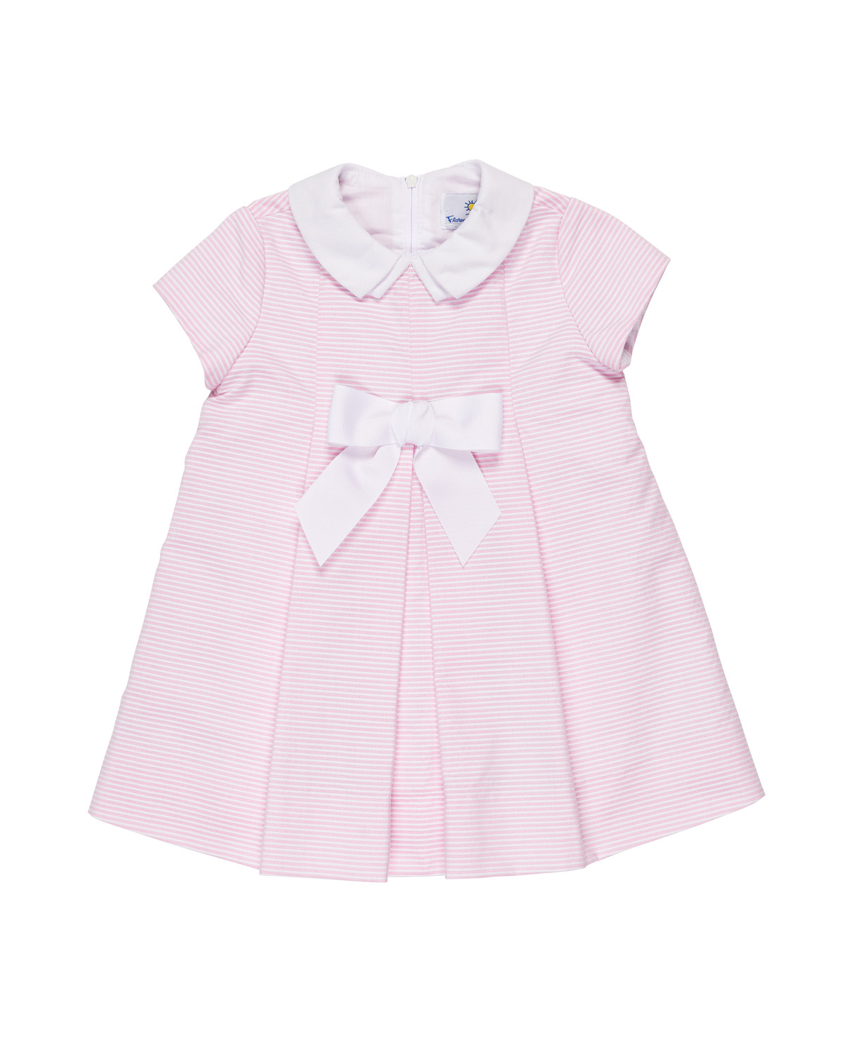 pink white flower girl dress